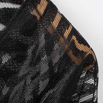 2019 Women Lace Mesh Solid Cardigan Bikini Beach Cover Up Perspective Crochet Kaftan Beach Dress Swimsuit Beach Wear Pareo Playa 5