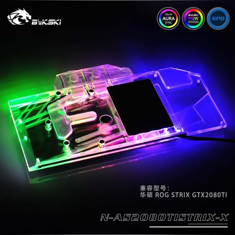Bykski GPU Water Block for ASUS ROG STRIX GTX2080Ti O11G Gaming Full Cover Graphics Card water coolerBykski GPU Water Block for ASUS ROG STRIX GTX2080Ti O11G Gaming Full Cover Graphics Card water cooler