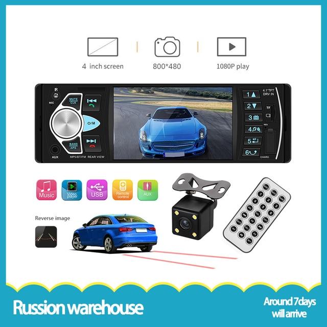 """Автомобильное аудио bluetooth громкой связи автомобильное радио 4,1 """"дюймовый HD большой экран USB/AUX рулевое колесо управление воспроизведение видео Автомагнитола 4022D"""