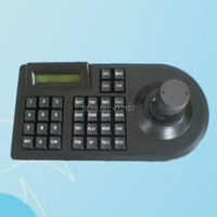 Surveillance 3D 3 Axis Joystick PTZ Controller Keyboard RS485 PELCO D P LCD Display For Analog
