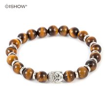 Natural Stone Buddha Bracelets Anchor bracelet men Beads Bracelets For Women Men leopard Silver gold Jewelry