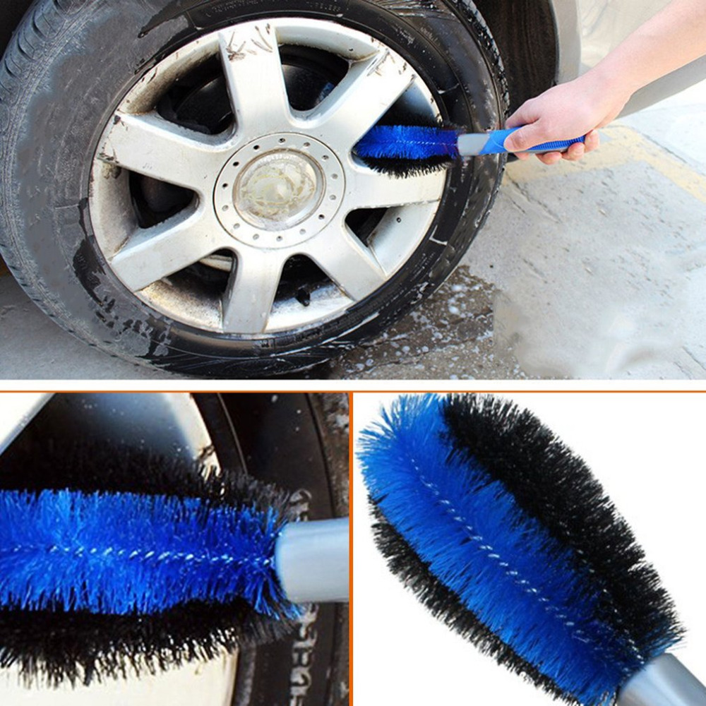 Car Cleaning Tool Wheel Tire Rim Scrub Washing Brush Anti-slip PP TPR Car Brush Tool For Truck Motorcycle Bicycle