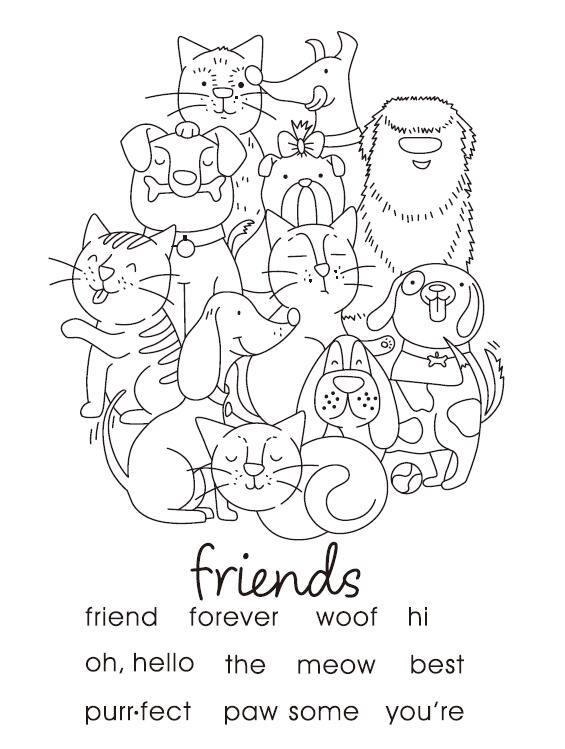 Best Friend Transparent Clear Silicone Stamp Seal DIY Scrapbooking photo Album A0258