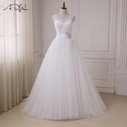 ADLN на заказ Топ Кружева Свадебные платья 2019 колпачок рукав Свадебные платья Тюль A-Line vestidos de noiva Плюс размер Новое поступление