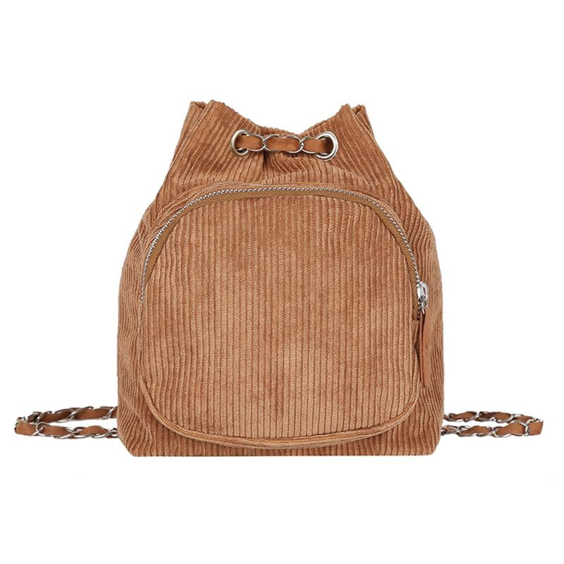 MOJOYCE Corduroy Backpack Women Girls Small Travel Chain Shoulder Bag Girls Fashion Solid Crossbody Bag Lovely Candy Color BagMOJOYCE Corduroy Backpack Women Girls Small Travel Chain Shoulder Bag Girls Fashion Solid Crossbody Bag Lovely Candy Color Bag