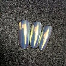 0.2G Aurora Neon Pigment Powder Chameleon Mermaidผงกระจกเงายูนิคอร์นChromeเล็บRainbowฝุ่นเล็บDIY