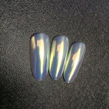 Pigmento de neón Aurora TOP de 0,2g, Camaleón en polvo, sirena en polvo, efecto súper Espejo, uña de cromo unicornio, polvo arte uñas de arco iris