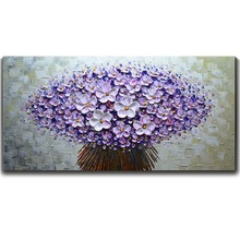 professional Aritist Hand painted modern Flower Oil Painting On Canvas Wall Art Picture For Living Room Home Decor
