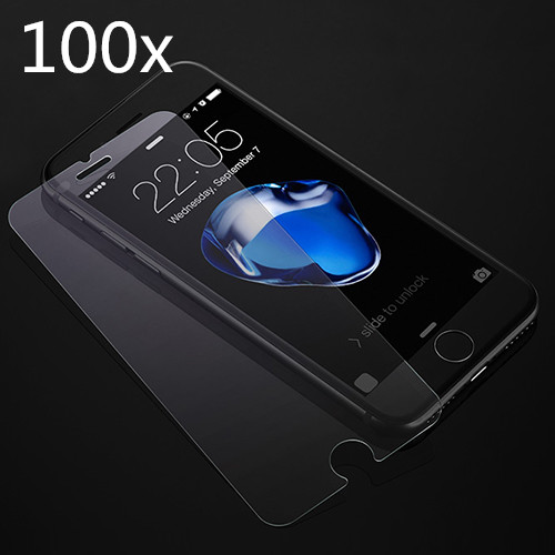 FREE DHL X 100 PCS LOT Tempered Glass Screen Protector Protective Film Guard For Apple iPhone
