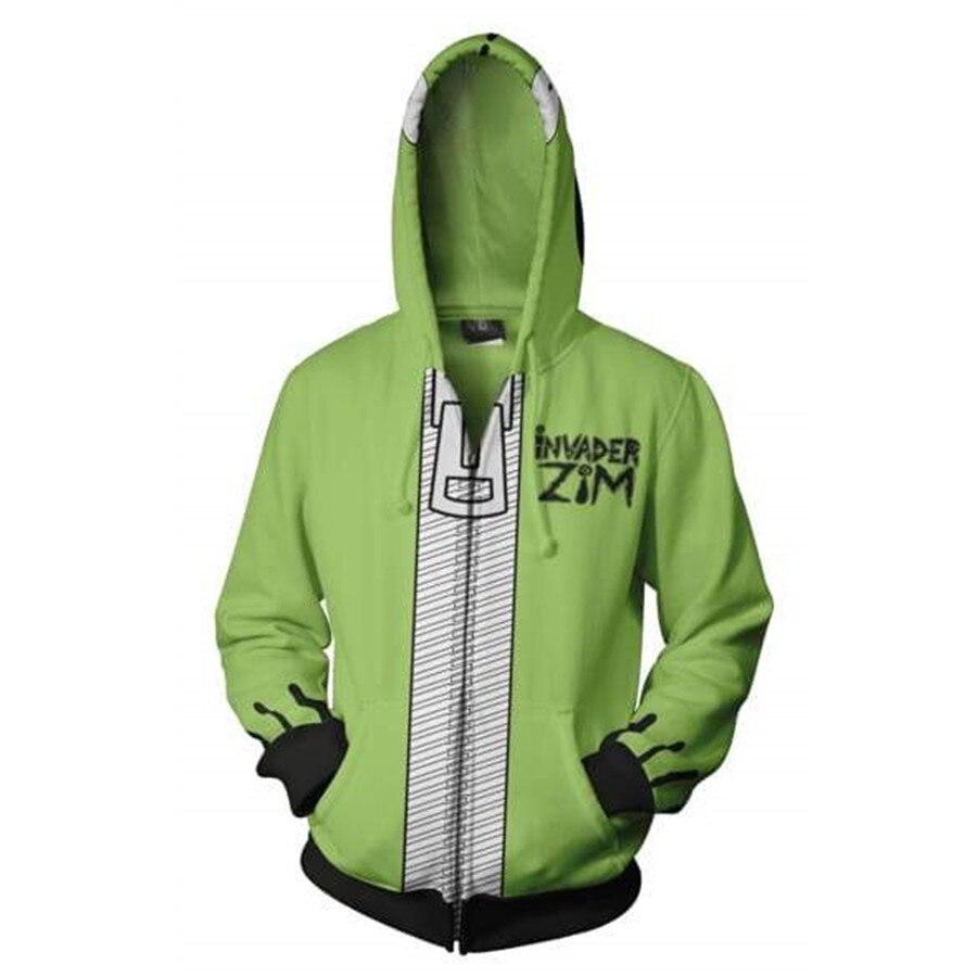 Anime Invader Alien Zim Hoodie Cosplay Movie Hoodie Sweatshirts 3D Men New