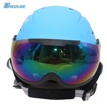 Goexplore Snow Helmet with PC Goggles men women Children Integrally molded EPS CE Certification Safety Skiing Skating Ski Helmet цена