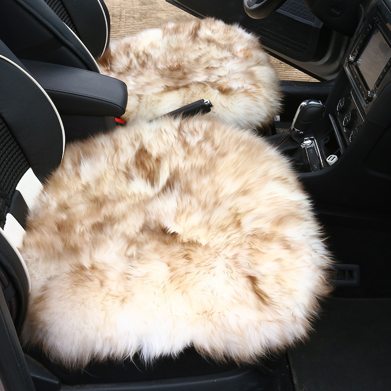Nature Pure Wool Car Seat Cushion Winter Warm Universal Long Sheepskin Fur Covers Mats For Automobile Home Office In Automobiles From