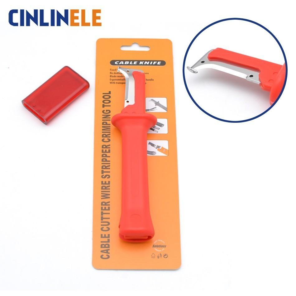 Free Shipping 31HS Cable Knife Cable Stripper Patent Stripping Tools Pliers Blade Length 38mm Total Exquisite Package