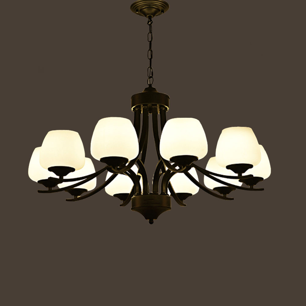 hghomeart e27 antique retro iron classic contemporary chandeliers led living room chandelier baby suspension lamp home