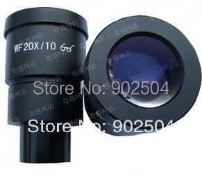 ФОТО WF20X/10mm Stereo Microscope Wide Angle Eyepiece Optical Lens with Mounting Size 30mm