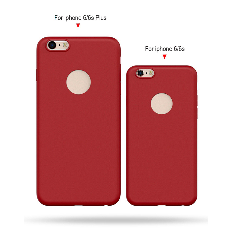 50PCS/Lot For iphone 7 6S Plus Soft TPU Matte Case 0.6 mm Ultra Thin Candy Color Gel Silicone Cover For iphone 6 7Plus Free DHL