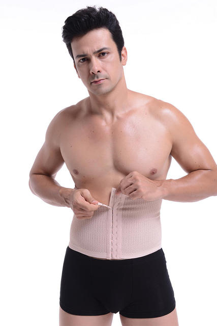 Belly Girdle PRAYGER Waist Trainer Belt Band Men Slimming Tummy Trimmer Body Shaper Control Abdominal Waist Cinchers Corset 4