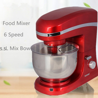 Electric Mixer Food Processor Dough Kneading Machine 5L 1000W Eggs Cake Kitchen Stand Mixer Food Cooking