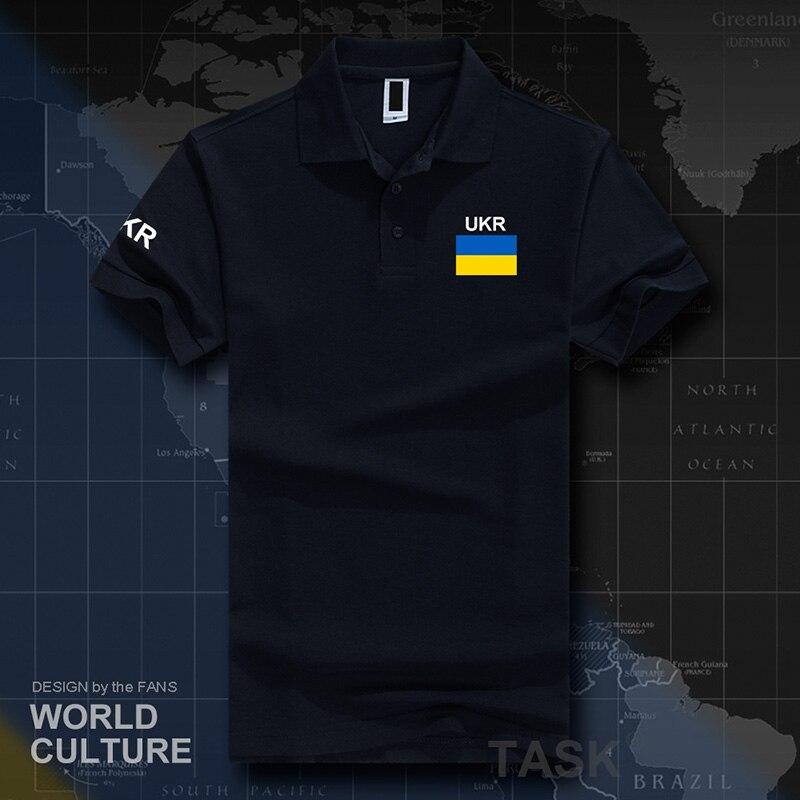 Ukraine Ukrainian Polo Shirts Men Short Sleeve White Brands Printed For Country 2017 Cotton Nation Team Flag New  UKR Ukrayina