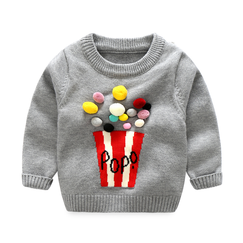 Xirubaby 2017 Autumn Winter Baby Boy Girls Sweater Infant Boy Wool Thick Cartoon Vintage Knitted Sweater Newborn Girls Cardigan