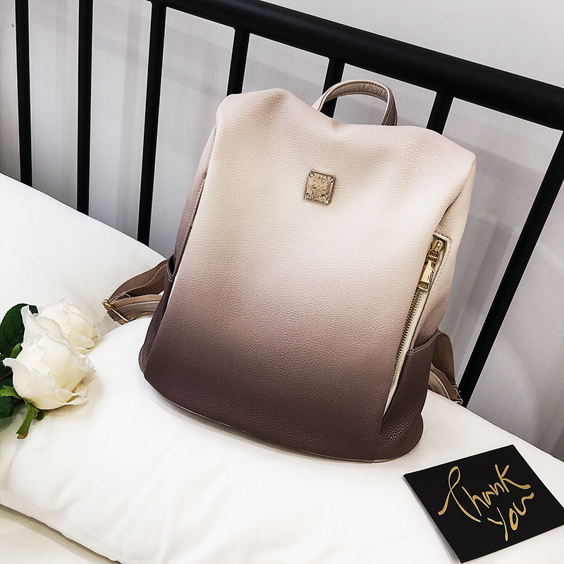 Stylish personality gradient shoulder bag Personality retro backpack female.