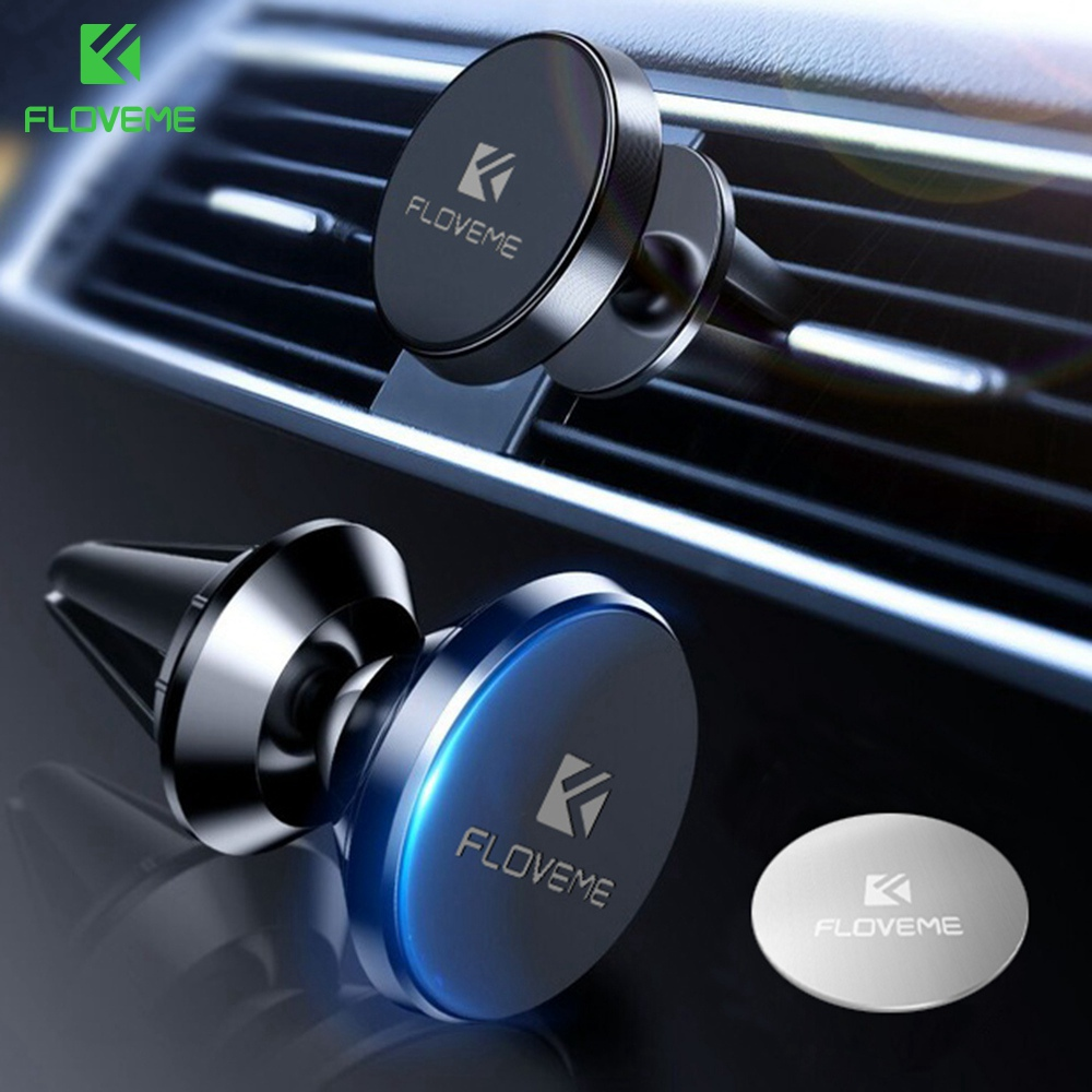 FLOVEME Magnetic Car Phone Holder For IPhone XR Xs Max 360 Degree Air Mount Stand Car Holder For Phone In Car Soporte Movil Auto