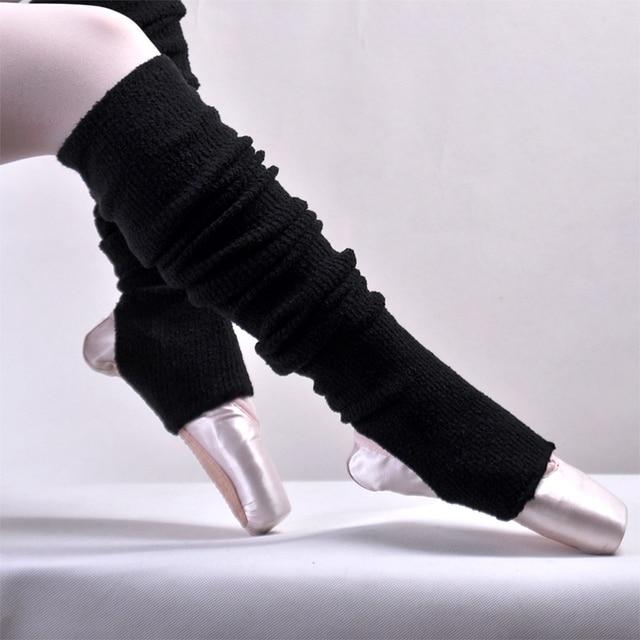 0290e016e7 Adultos Preto Cashmere Macio Ballet Ballet Dança Polainas Com Furos de  Salto Leggings De Dança