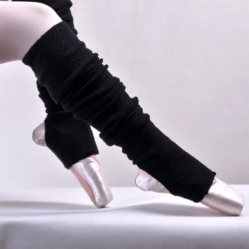 Volwassenen Zwart Zachte Kasjmier Ballet Dans Beenwarmers Met Hak Gaten Ballet/latin Dance Leggings Ballerina Thermische Legguard Vrouwen