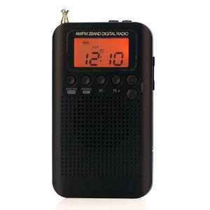 Image 4 - Mini Radio głośnik odbiornik LCD cyfrowy głośnik FM/Radio AM z funkcją wyświetlania czasu gniazdo Jack do słuchawek 3.5mm