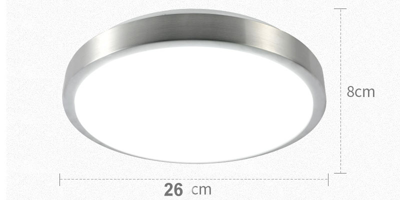 Image 2 - Движения Сенсор/радар человеческого индукции акриловые светодиодные принадлежности для потолочного светильника ресторан для ванной комнаты, проход Лестницы балконные потолочные светильники-in Потолочные лампы from Лампы и освещение