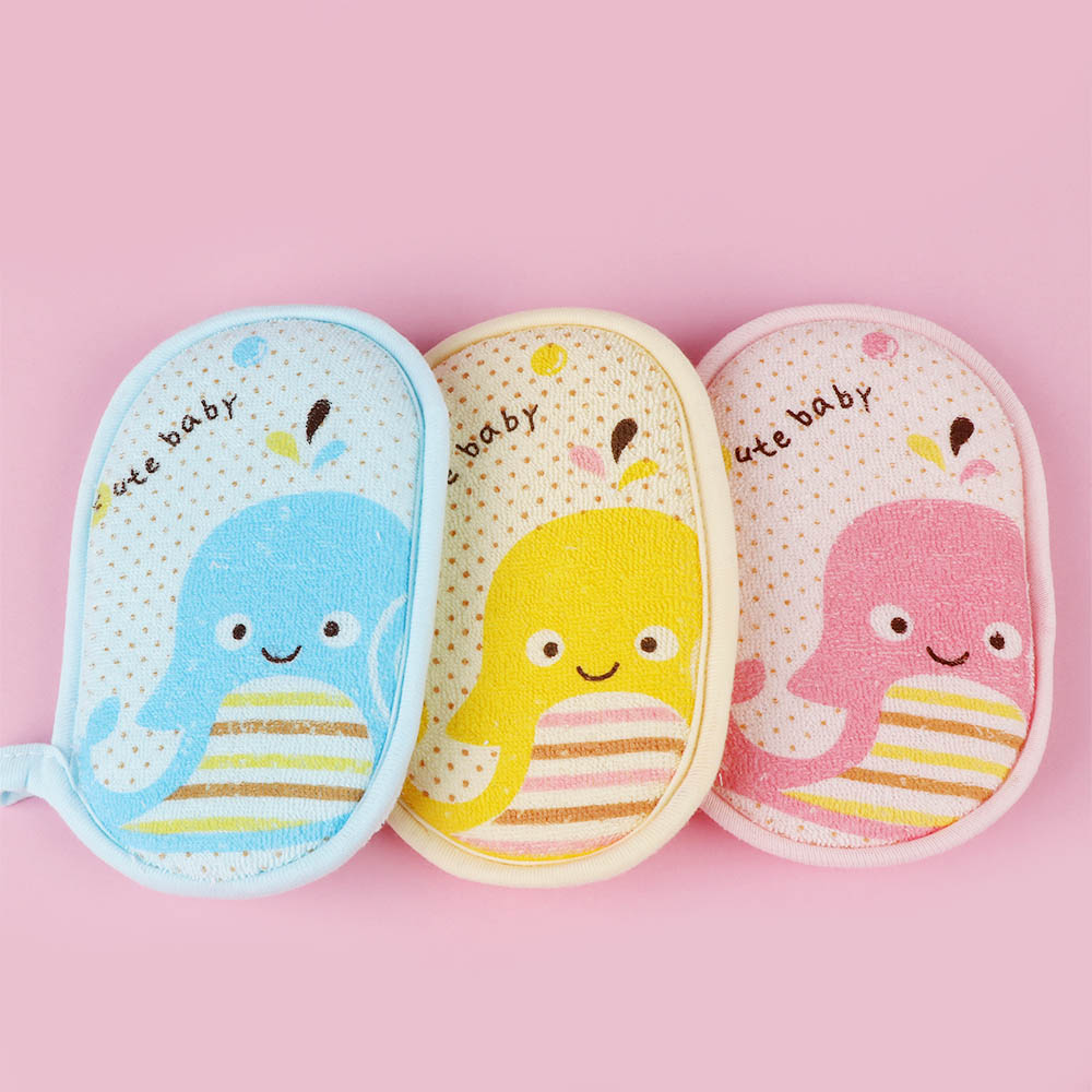 Kid Bath Sponge Infant Loofah Cute Baby Children Newbron Infant Shower Product Rub Towel Ball Soft Baby Bath Sponge Powder Puff