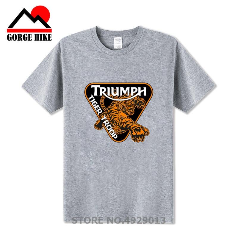 032f998166212 ... Тигр войска футболка homme · На заказ скорость тройной 1050 мотоцикл  «Триумф» футболки для мужчин короткий рукав День благодарения