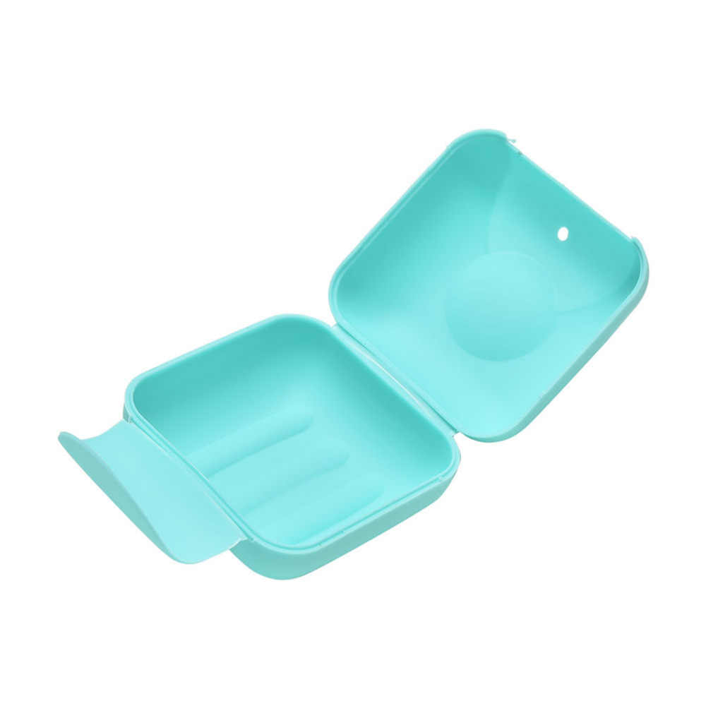 HENGHOME 1 sztuk 2 rozmiar 4 kolory mini łazienka pojemnik na talerze domu prysznic podróży piesze wycieczki uchwyt pojemnik pudełko na mydło