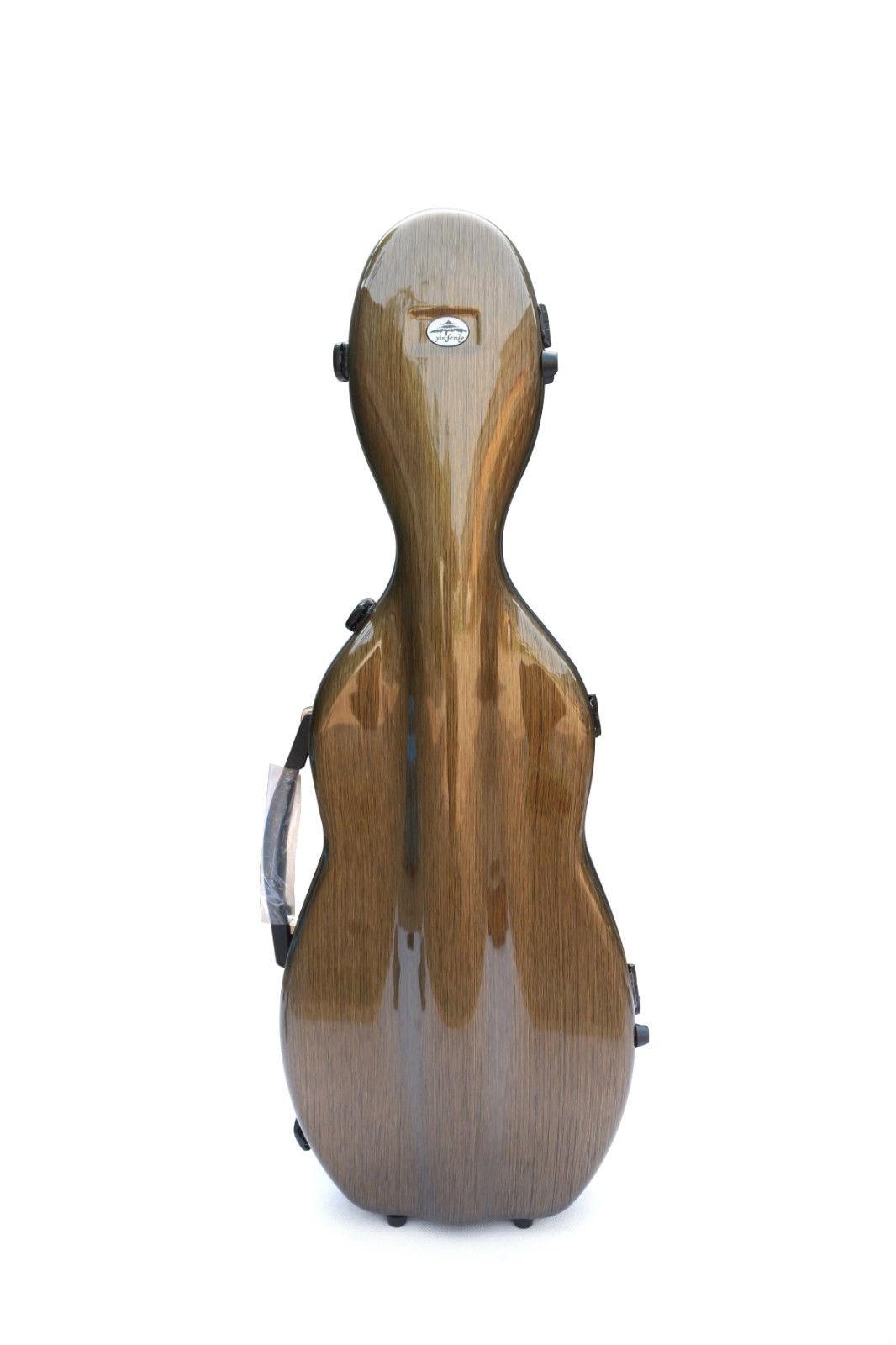 Carbon Fiber Violin Case 4/4 Brown Violin Case Mix Glass Fiber Strong Light 1.9kg Handle Hygrometer