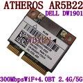 Dw1901 AR5B22 300 M sem fio Bluetooth de 4.0 2 mini metade placa PCI-E