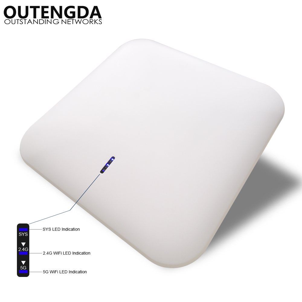 1200Mbps 11AC Dual Band Wireless Ceiling AP Router Access Point WiFi Repeater Ceiling-mounted AP Router 2.4G&5.8G Support POE