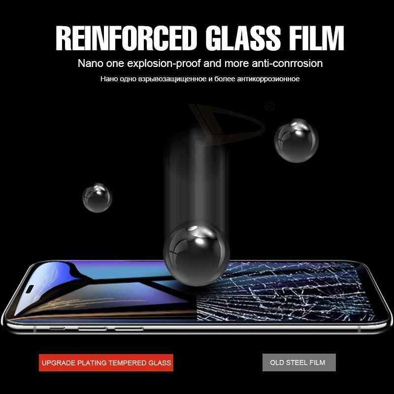 RIGLANMA 5D cubierta completa de vidrio templado para iPhone X 7 6s Plus XS Max Protector de pantalla para iPhone XR X 8 borde curvo tallado en frío