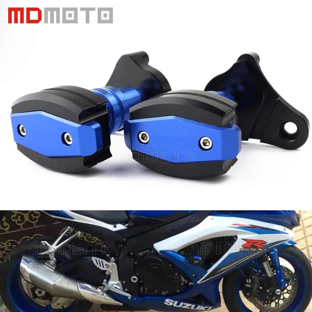 Red Hunter-Bike Motorcycle Frame Slider Aluminum Anti Crash Protector for Suzuki GSXR600 GSXR750 06-15 K6 K8 K11 L1
