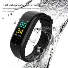 цены Bluetooth Smart Band Color Screen Waterproof IP68 Wristband Pedometer Sport Heart Rate Monitor Fitness Bracelet Tracker