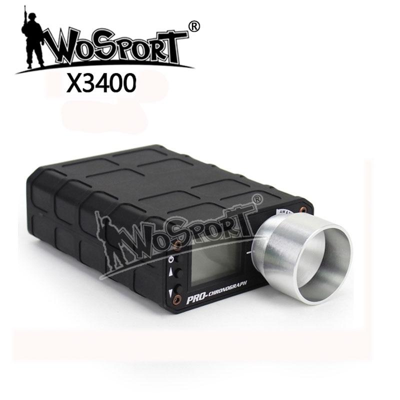 WoSporT tactique Airsoft X3400 tir chronographe testeur de vitesse pour la chasse au pistolet BB