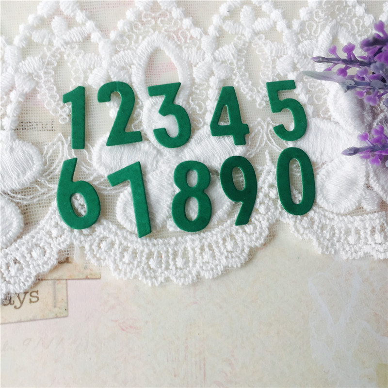 0 9 Numbers Metal Cutting Dies for Scrapbooking DIY Photo Album Embossing Folder Paper Card Making Stencils Decor Supplies in Cutting Dies from Home Garden