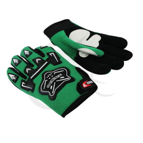 Гоночные перчатки для крутой молодежи/PEEWEE дети ATV мотокросс мотоцикл внедорожные MX DIRT BIKE перчатки гонки GUANTES - Цвет: Зеленый