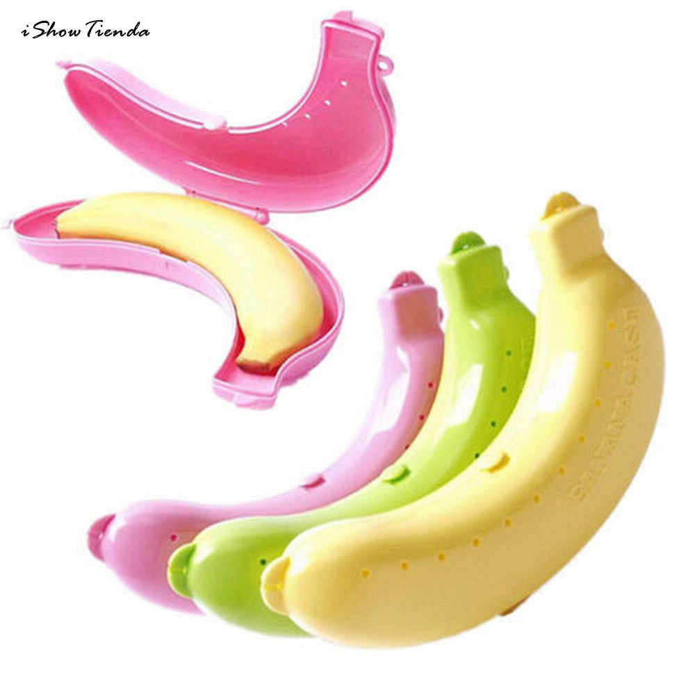 Cute 3 Colors Fruit Banana Protector Box Holder Case Lunch Container Storage TB  banana Case Kitchen Tools Plastic хлебница