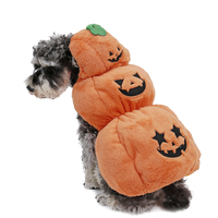 2015 Pet Halloween Dog Cloth Cheap Dog Pet Cloth For Puppy Orange Color Pet Lovely Halloween Coat Pumpkin Dress Up Thick Warm