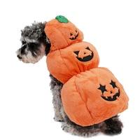 2015 Pet Halloween Dog Cloth Cheap Dog Pet Cloth For Puppy Orange Color Pet Lovely Halloween Coat Pumpkin Dress Up Thick Warm