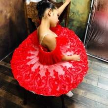 Белая красная профессиональная балетная пачка для детей девочек балетная пачка взрослая Женская балерина для вечерние женские танцевальные костюмы