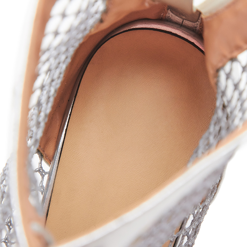 Verano Curvaness gris Cuadrado Equipos Gladiador Zapatos Mujeres Bajo Encaje Beige negro Sexy marfil De Tacón Corte Malla Pista Nuevos Transpirable Las gwHarAgq
