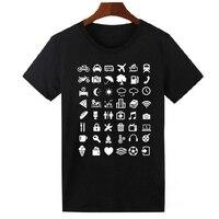 여행 아이콘 T 셔츠 남성 여성 여름 여행자 배낭