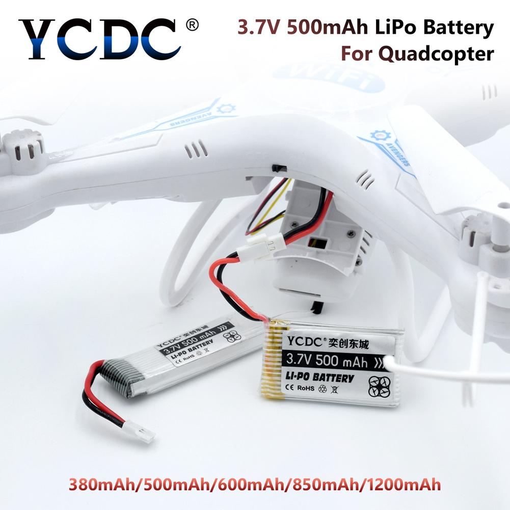 1200mAh 850mAh 600mAh 500mAh 3.7V LiPo Battery for SYMA X5C X5 X5SW X5HW X5HC RC Drone Quadcopter Spare Battery Parts syma x5hc x5hw rc quadcopter parts 5 pcs 3 7v 600mah lipo battery with 5 in1 usb charger adapter cable drone spare parts set