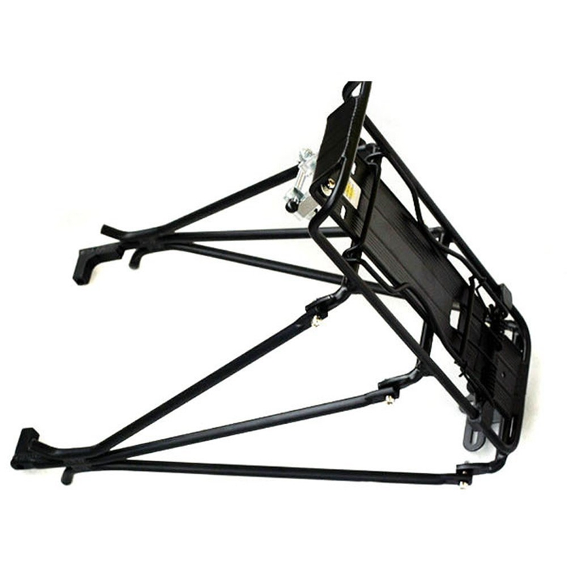 Cycling MTB Aluminum Alloy Bicycle Carrier Rear Luggage Rack Shelf Bracket for Disc Brake/V-brake Bike Black